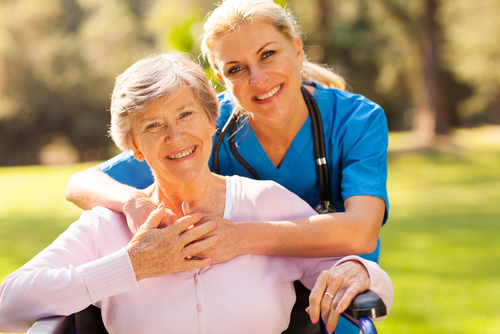A caregiver and an elderly woman - Benefit of Having a Live-In Caregiver