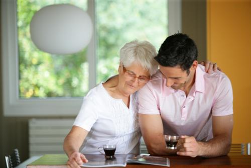 mother son full-time caregiver